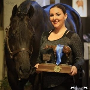 This was Sam's first time placing at the Congress and she came home with the win and the coveted bronze trophy. Photo © Courtsey Promotions